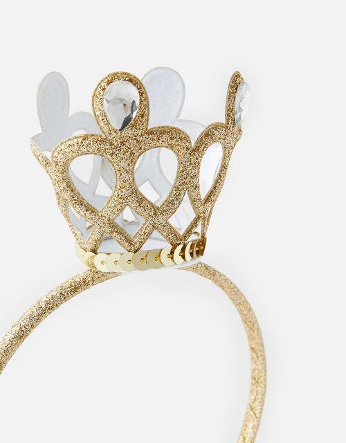 Mini Crown Sequin Headband , , large