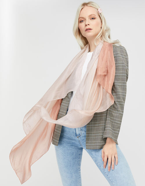 Luxury Silk Stole, Pink (PALE PINK), large