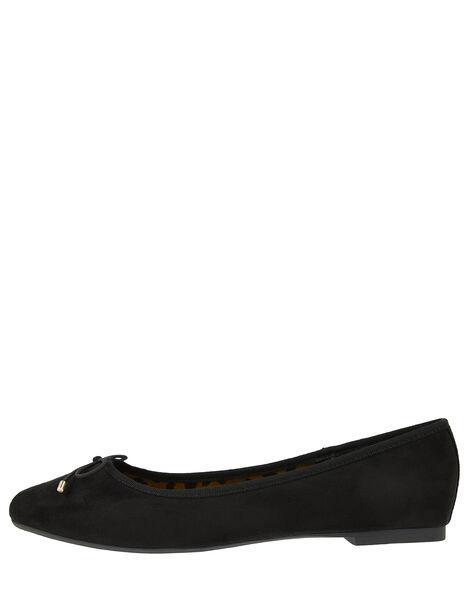 Sophia Bow Detail Ballerina Flats Black, Black (BLACK), large