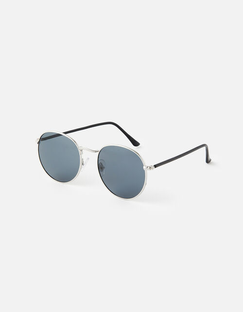 Roxy Round Sunglasses , Silver (SILVER), large
