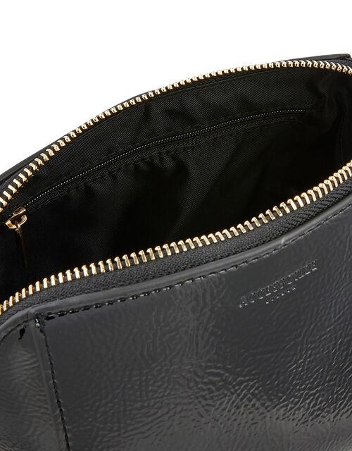 Patent Pouch Bag, Black (BLACK), large
