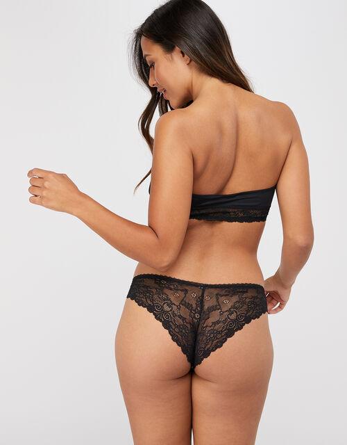Lace Bandeau Bra, Black (BLACK), large