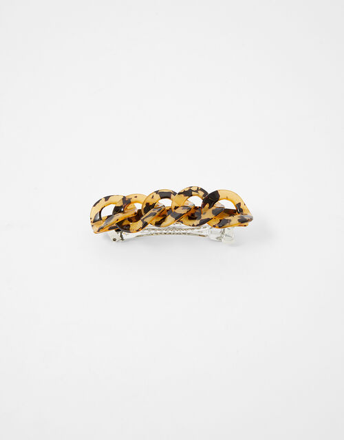 Tortoiseshell Chain Barrette Clip, , large