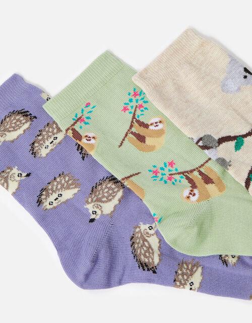 Animal Print Sock Multipack, , large