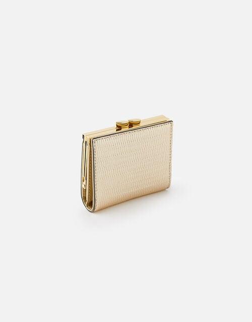 Bella Clip Frame Wallet , Gold (GOLD), large