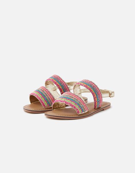 Tropical Beaded Sandals  Multi, Multi (BRIGHTS-MULTI), large