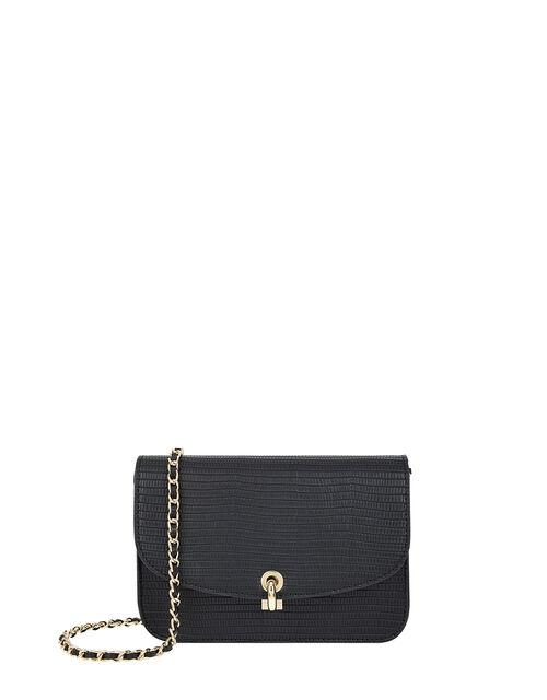 Edie Croc Cross Body Bag, , large