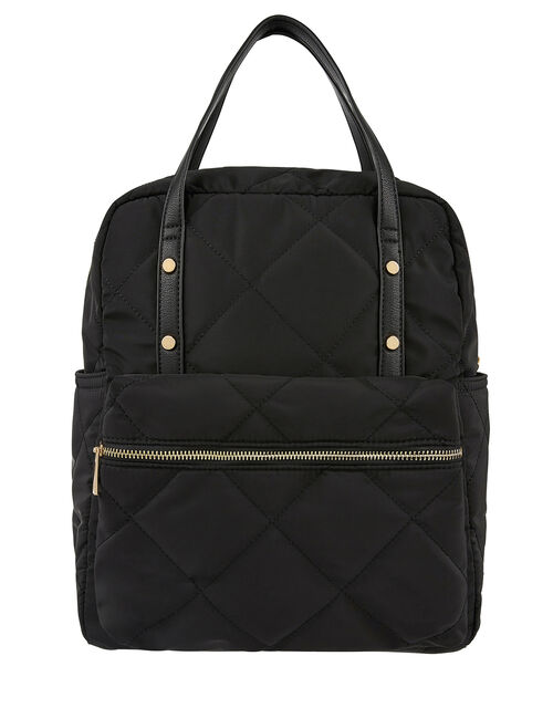 Emmy Vegan Quilted Backpack, , large