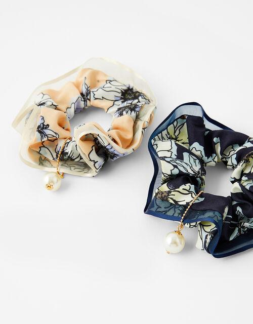 Floral Scrunchie Set, , large