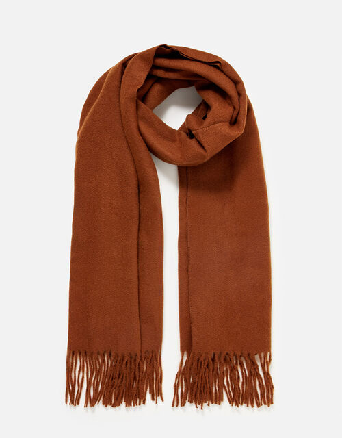 Holly Supersoft Blanket Scarf, Brown (BROWN), large