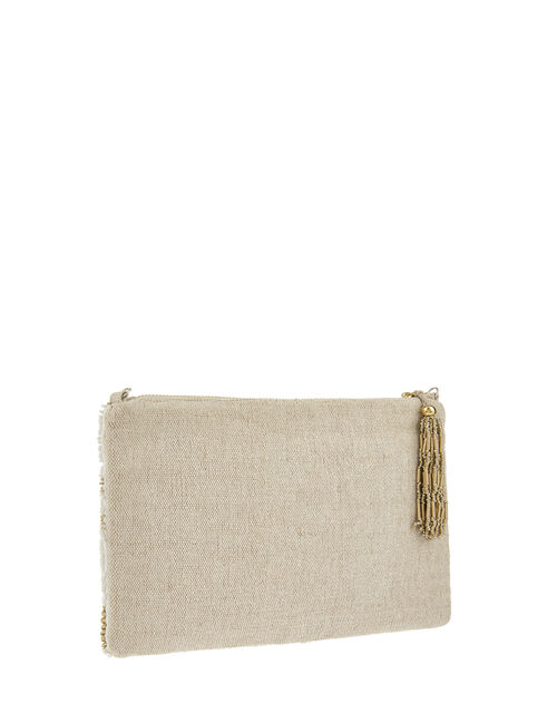 Embellished Daisy Bag with Chain Strap, , large