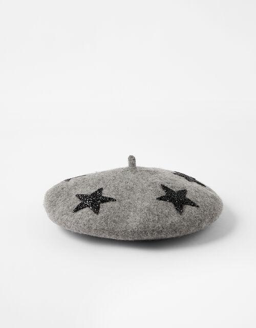 WISH UPON A STAR Beret, Grey (GREY), large