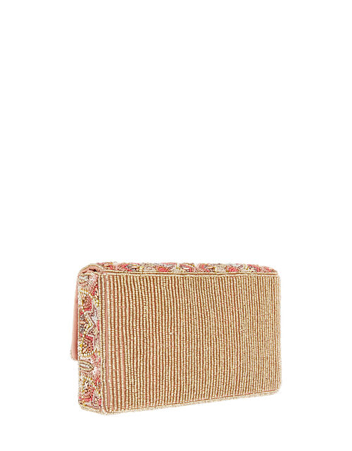 Floral Tile Embellished Clutch Bag, , large
