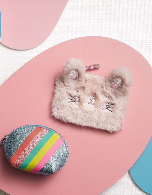 Bella Bunny Fluffy Coin Purse, , large