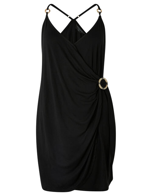 Ring Detail Jersey Dress, Black (BLACK), large