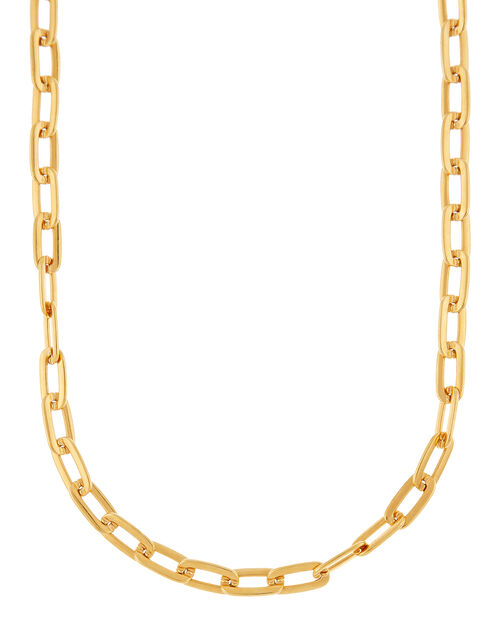 Gold-Plated Large Link Necklace, , large