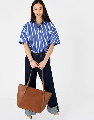 Leonie Tote Bag Tan, Tan (TAN), large