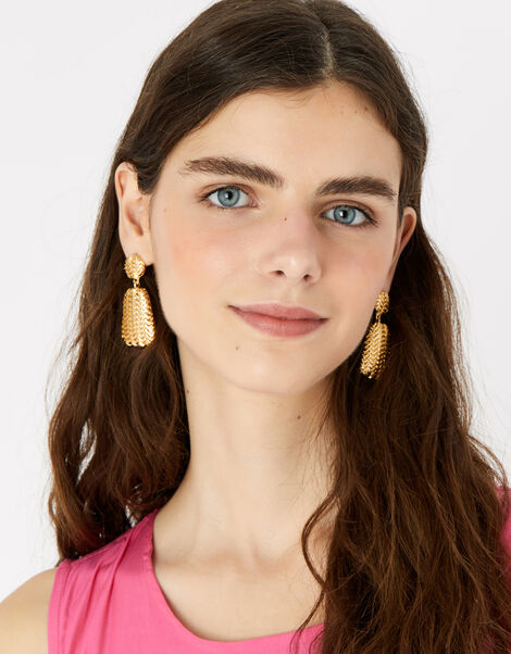 Berry Blush Textured Earrings, , large