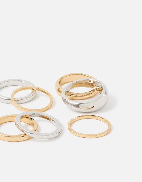 Berry Blush Curved Edge Ring Set, Metalic (METALLICS), large