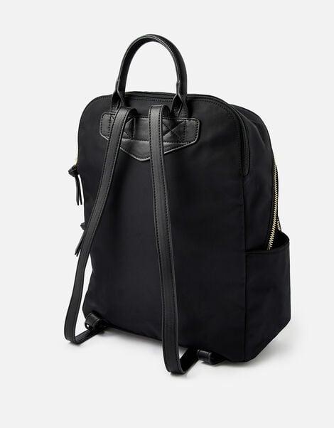 Nell Nylon Backpack Black, Black (BLACK), large