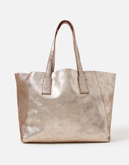Melinda Large Leather Shopper, Gold (GOLD), large