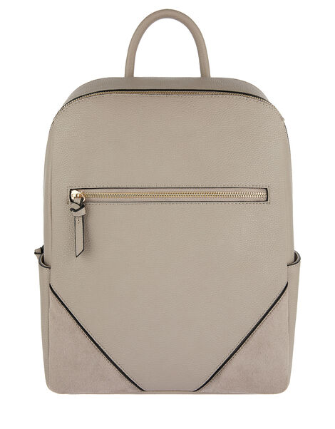 Judy Vegan Backpack Grey, Grey (GREY), large