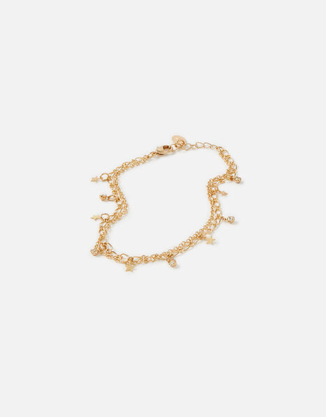Starry Layered Anklet, , large