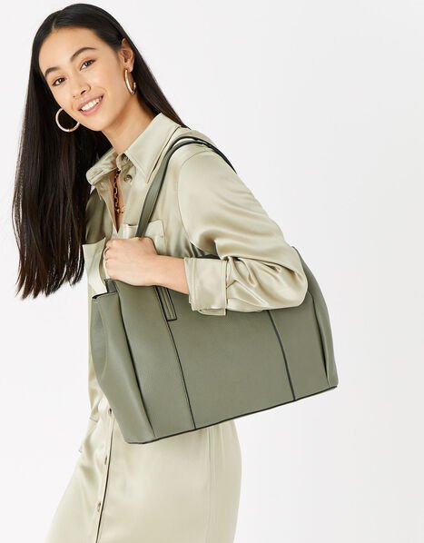 Lauren Work Bag Green, Green (KHAKI), large