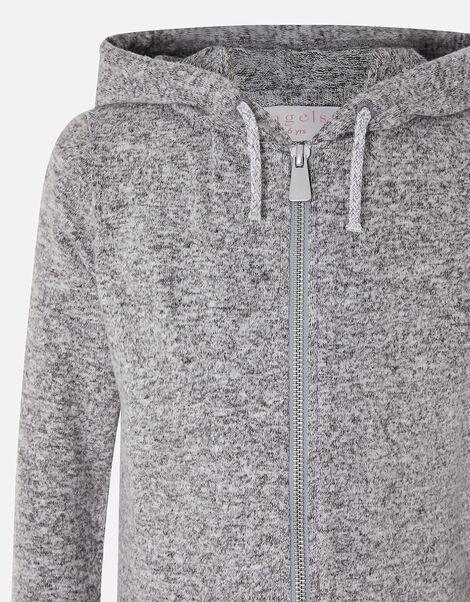 Girls Marl Hoody Grey, Grey (GREY), large
