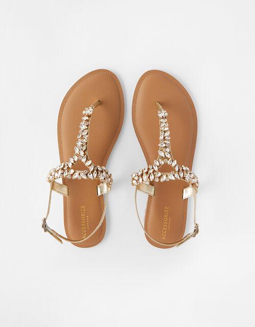 Bermuda Crystal Sandals, White (CRYSTAL), large