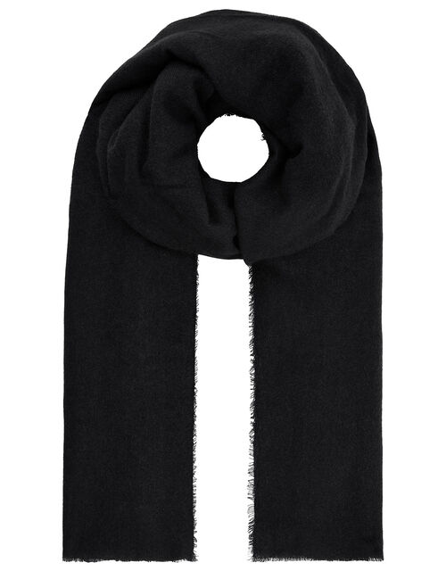 Wells Blanket Scarf Black, , large