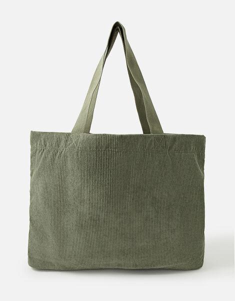 Cord Shopper Bag Green, Green (KHAKI), large