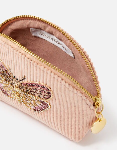 Embellished Butterfly Coin Purse Pink, Pink (PINK), large