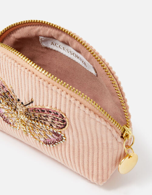 Embellished Butterfly Coin Purse, Pink (PINK), large