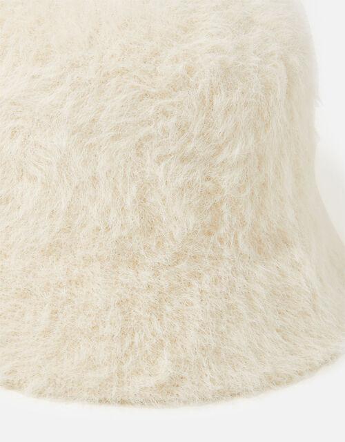 Fluffy Bucket Hat, Natural (NATURAL), large