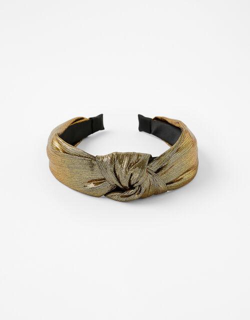 Metallic Knot Headband, , large