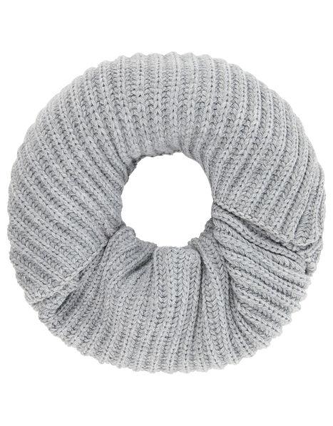 Chunky Knit Snood Grey, Grey (LIGHT GREY), large