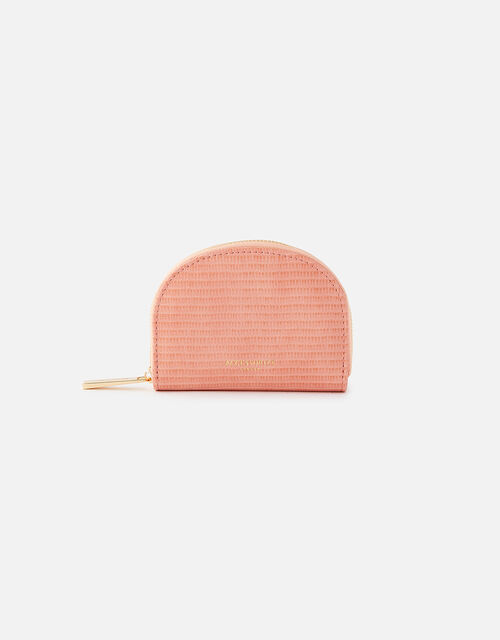 Semi Circle Coin Purse, Orange (CORAL), large