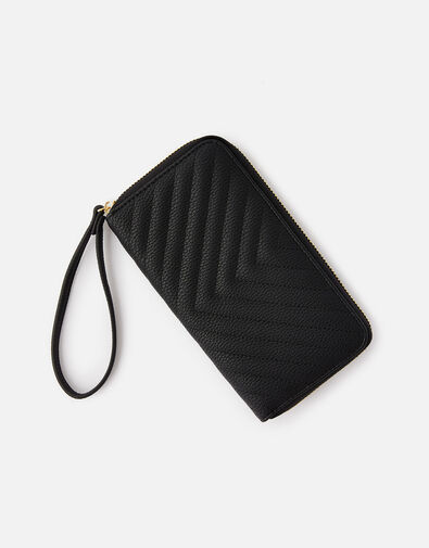Quilted Phone Purse  Black, Black (BLACK), large