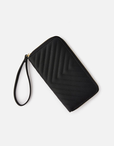 Quilted Phone Purse  Black, Black (BLACK), large