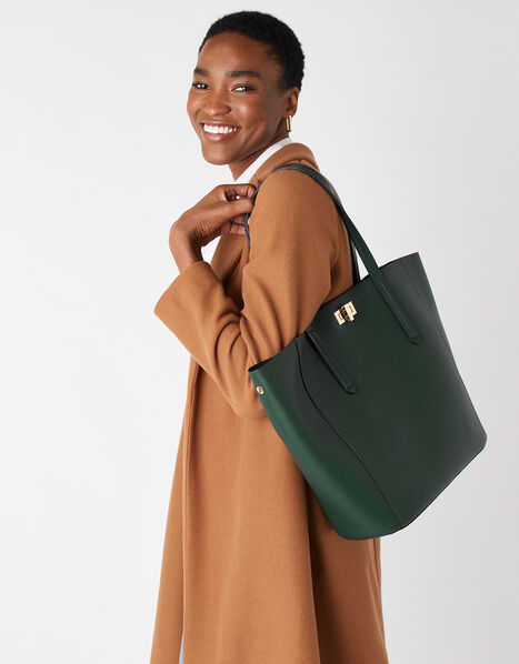Kayla Curve Tote Bag Green, Green (GREEN), large