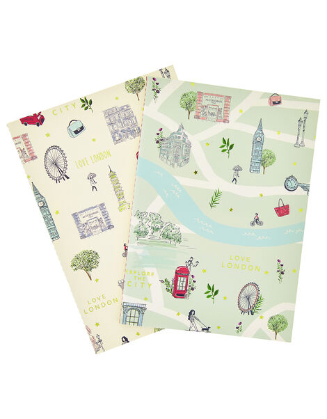 2x London Printed Notebooks, , large