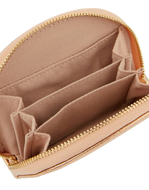 Crescent Zip Coin Purse, Gold (ROSE GOLD), large