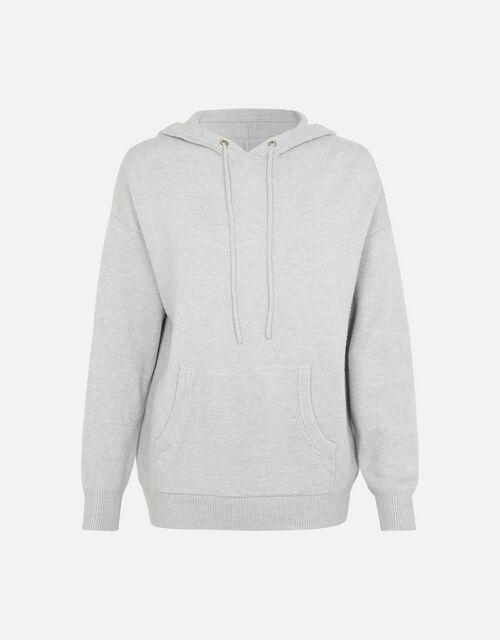 LOUNGE Knit Hoody, Grey (GREY), large