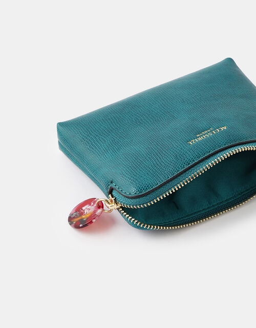 Resin and Reptile Coin Purse, Teal (TEAL), large