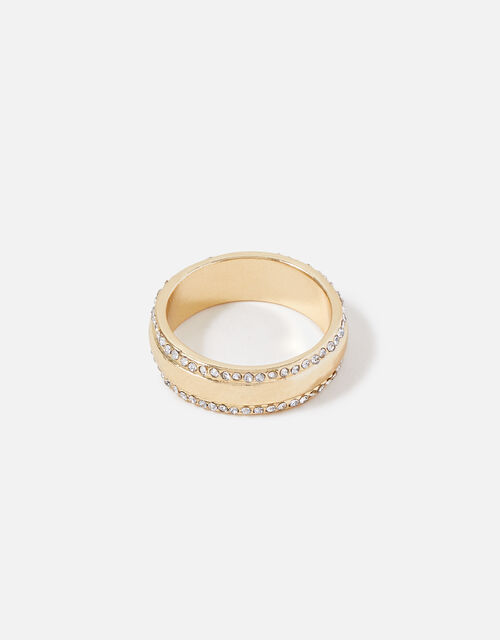 Midnight Sky Pave Edge Ring, White (CRYSTAL), large