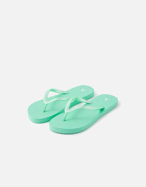 Plain EVA Flip Flops Green, Green (GREEN), large