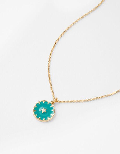 Mystic Enamel Pendant Necklace, , large