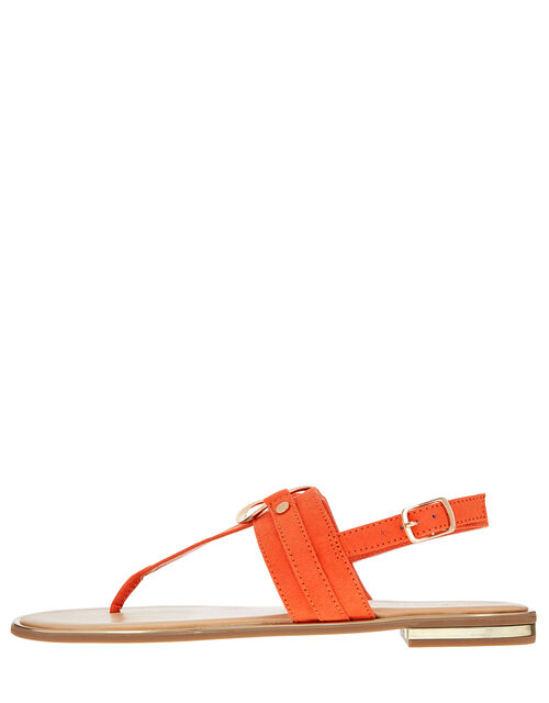 Ring Detail Sandals, Orange (ORANGE), large