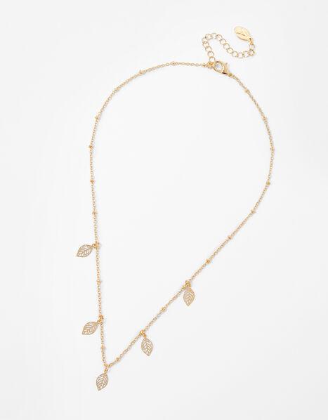 Discy Leaf Necklace, , large
